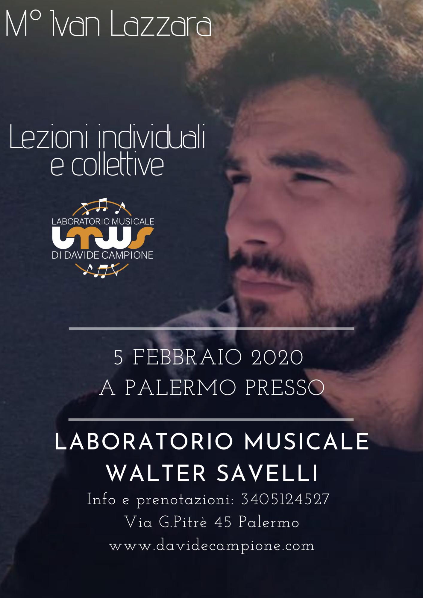 M Ivan Lazzara Laboratorio Musicale Walter Savelli